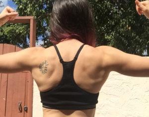girl back flexing