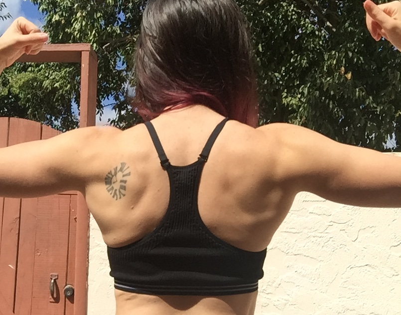 girl back flexing